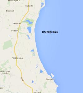 Druridge Bay (not actual size)
