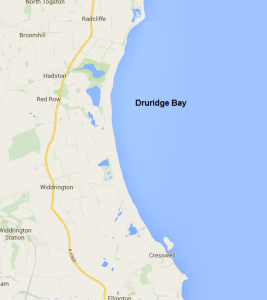 Druridge Bay (not actual size)