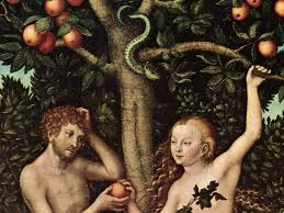 Adam and Eve, pictured yesterday