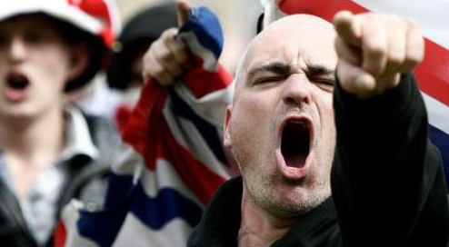 angry skinhead
