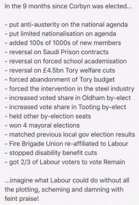 corbyn achievements