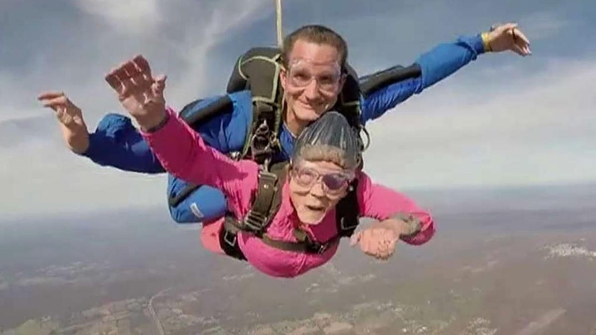 skydiving granny