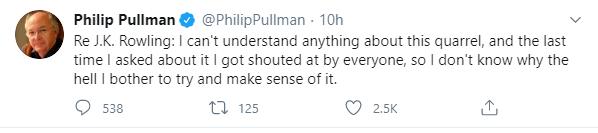 pullman tweet