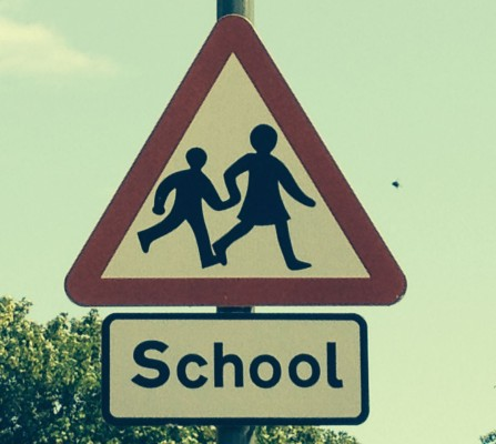 school speed sign